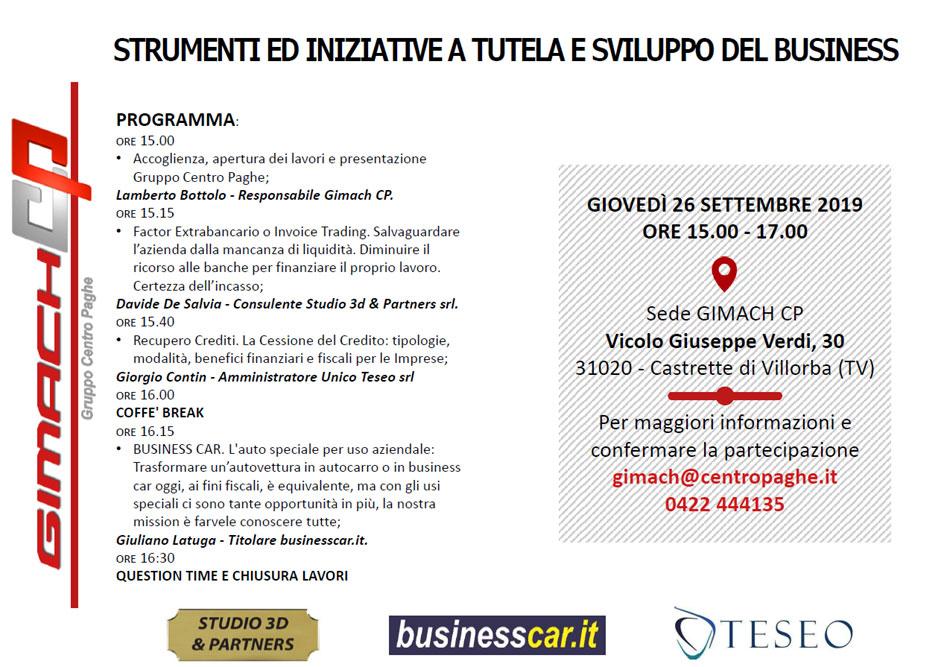 Strumenti e iniziative a tutela e sviluppo del Business
